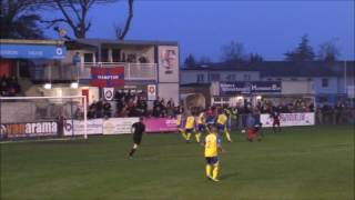 Hampton & Richmond Borough 4-0 St Albans City.  17 Dec 2016