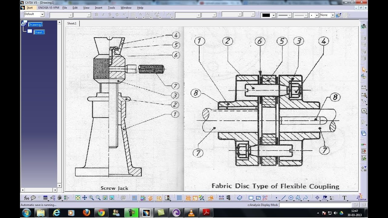 Catia V5 Drafting Individual View Aligned Section View