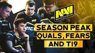 Dota 2 Season Peak. NAVI on Quals, Fears and TI9