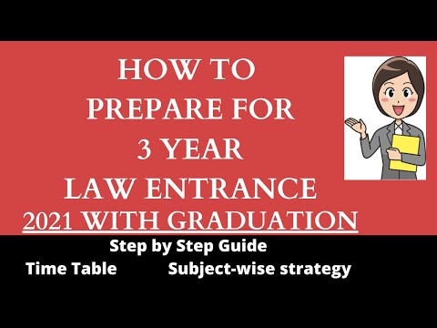 How to prepare for 3 year LLB entrance/How to prepare 3 year law entrance with graduation DU/BHULLB