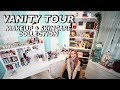 MY MAKEUP+SKINCARE COLLECTION / VANITY TOUR!