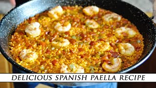 Simple SPANISH PAELLA With Shrimp & Bell Peppers