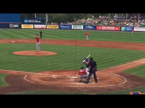Tim Tebow's first Grapefruit League at-bat