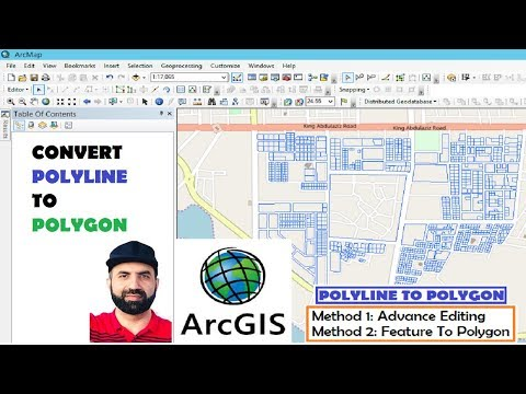 ESRI ArcGIS Convert Polylines To Polygons, Two Easy Methods