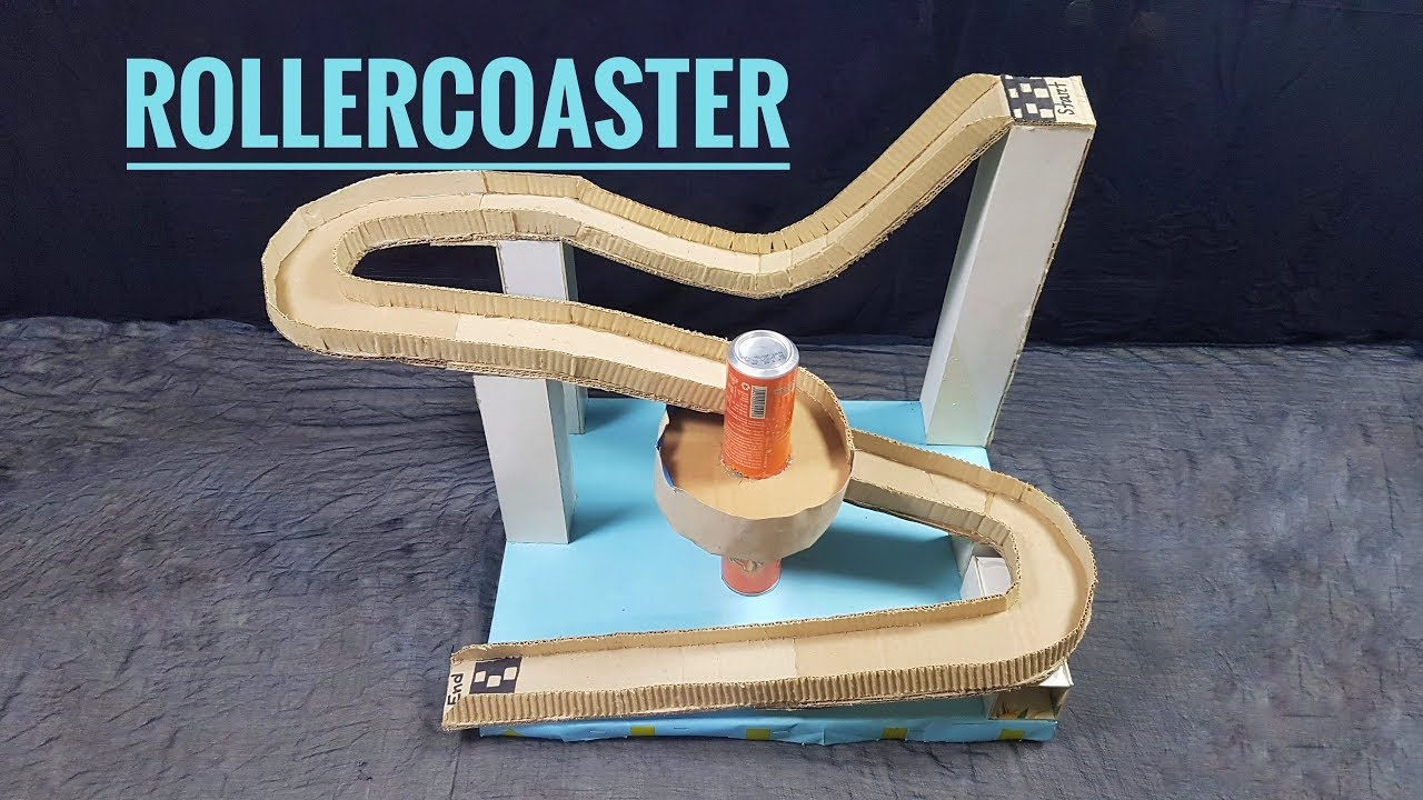 How To Make A Diy Rollercoaster Out Of Cardboard At Home