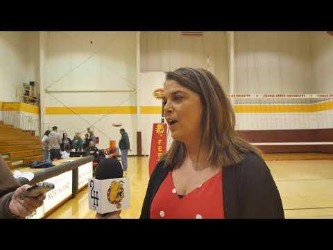 Ferris State Volleyball Highlights GLIAC QF Vs. UWP 11-20-19