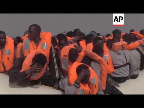 Spanish NGO pick up 322 migrants nr Libyan coast