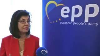EPP General Affairs Ministerial Meeting - Interview of Meglena Kuneva