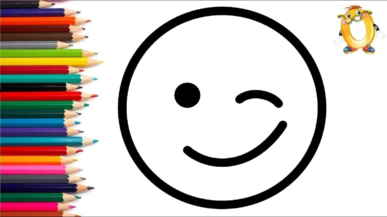 Раскраска для детей СМАЙЛ. Мультик - Раскраска. Учим цвета