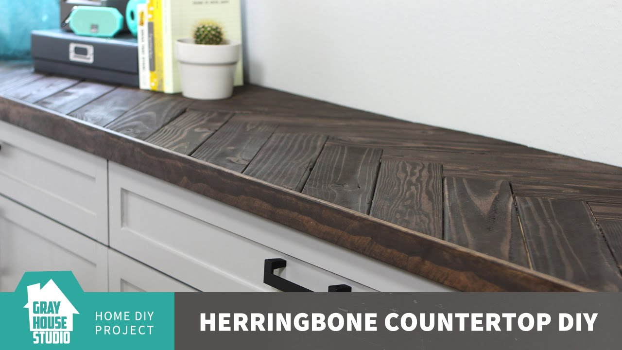 Herringbone Countertop DIY   Updated   YouTube