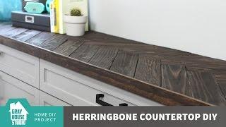 Herringbone Countertop DIY