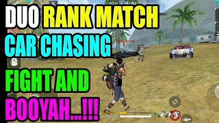 car chasing fight in duo rank match|| Rank match tips and tricks|| Free fire Run Gaming