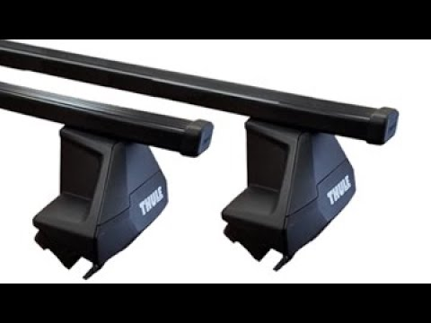 Thule Evo Clamp Car Roof Rack With Square Load Bars Quick Video Installation Youtube