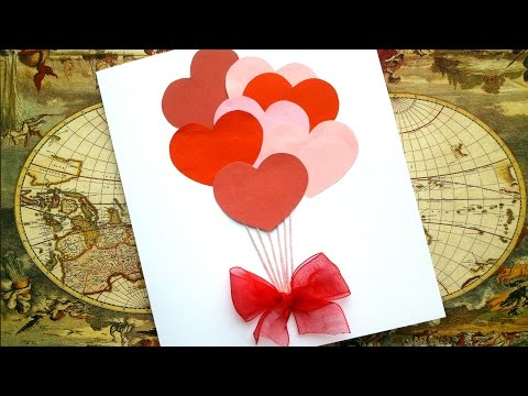 Simple Love Card for 5 minutes - Love Valentine Card Tutorial