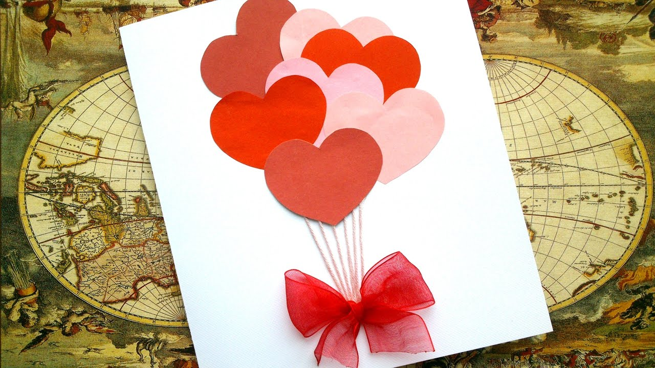 Simple Love Card For 5 Minutes Love Valentine Card Tutorial Youtube