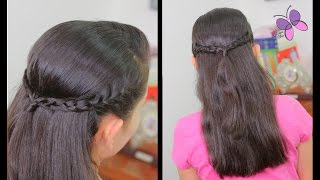 Half-up Hairstyle for School | Braided Hairstyles | Quick and Easy Hairstyles | Chikas Chic