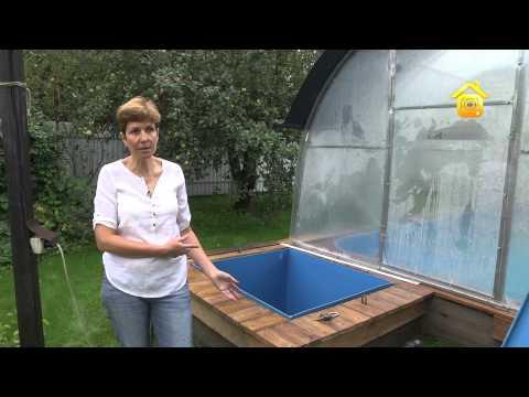 видео: Бассейн-теплица на дачном участке // forumhouse