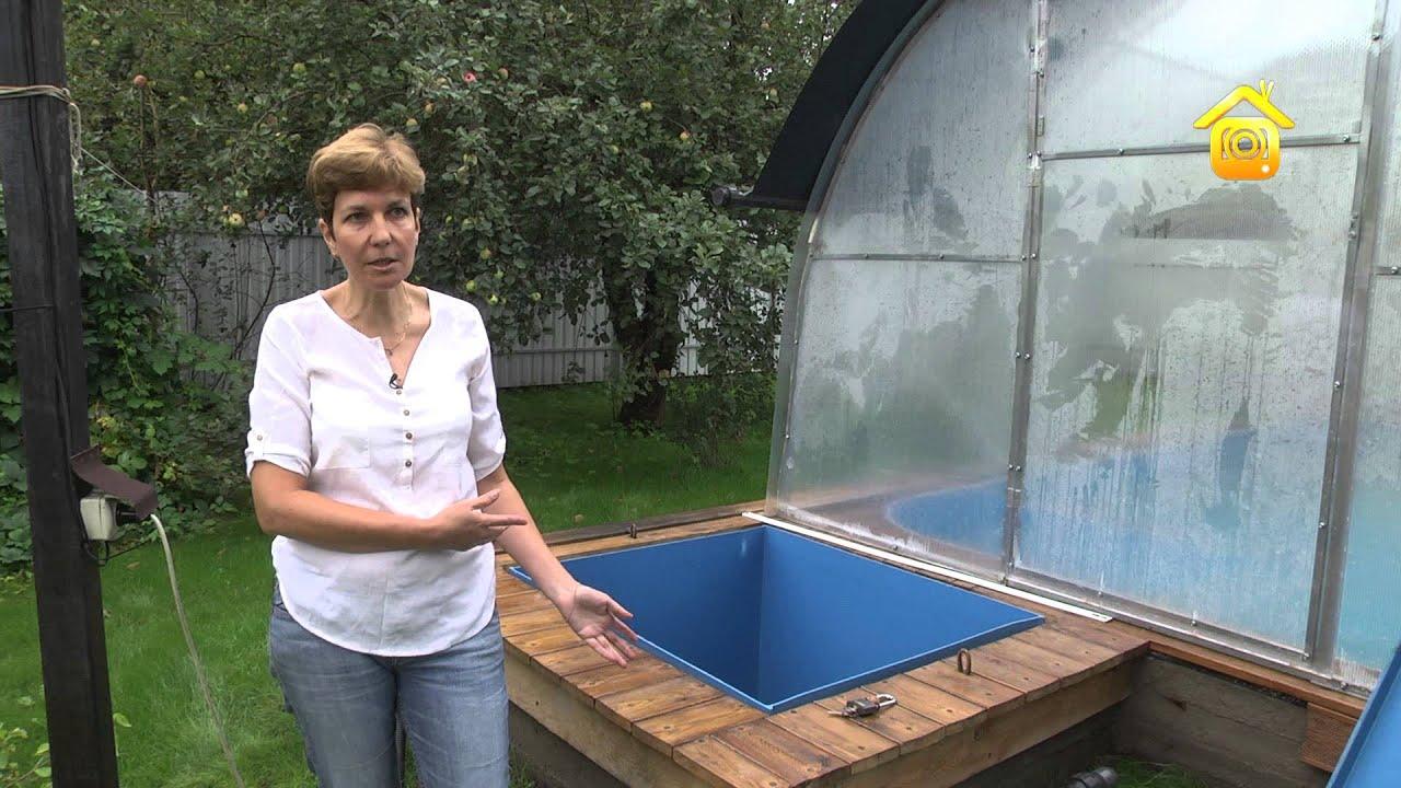 бассейн в теплице фото
