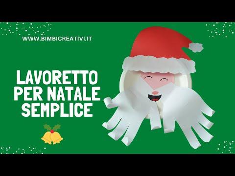 Lavoretti Di Natale Con Babbo Natale.Lavoretto Per Natale Con I Piatti Di Carta Babbo Natale Bimbi Creativi