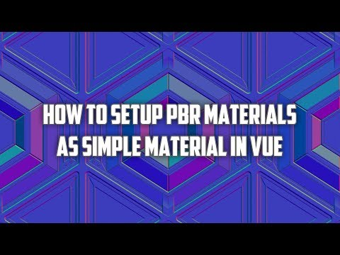 How to setup PBR material maps in Vue as simple type texture | Vue tutorial thumbnail