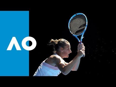 Garbiñe Muguruza V Karolina Pliskova Second Set  Highlights (4R) | Australian Open 2019