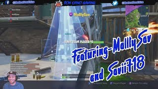 "Fortnite Battle Royale | Episode. 2 ""THE NO SKIN"" ft. MalllySav & Savii718"