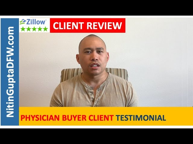 Another 5-Star video testimonial review from a home buyer client relocating to Dallas
