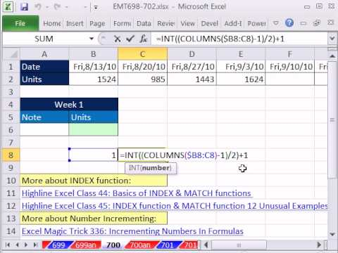 excel magic trick 700 return every other cell cell reference that