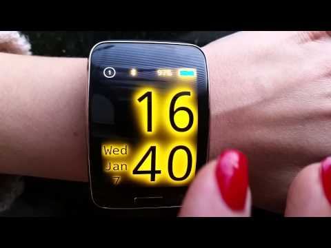 Big Neon Clock for Samsung Gear S
