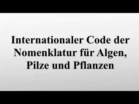 Internationaler Code der Nomenklatur für Algen, Pilze und Pflanzen