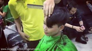 Female barbershop haircut