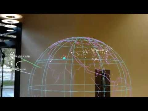 Live Holographic Flight Map