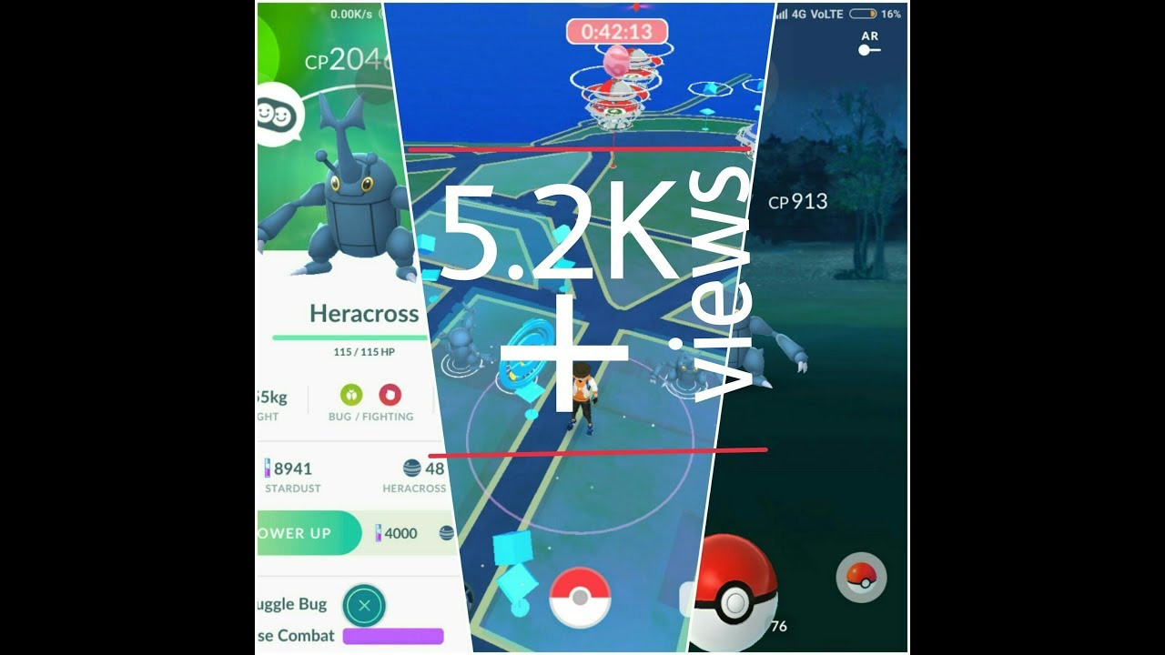 Heracross nest in Pokémon Go with coordinates