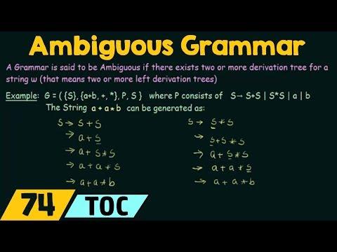 Ambiguous Grammar