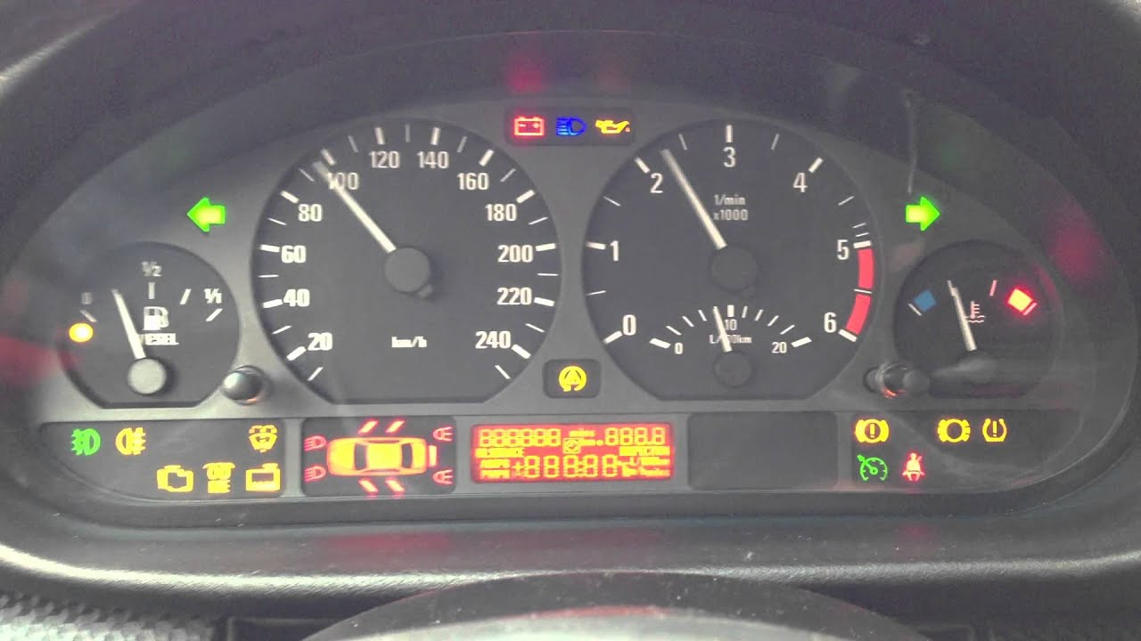 bmw e46 all light on tachometer turn on trick youtube. Black Bedroom Furniture Sets. Home Design Ideas