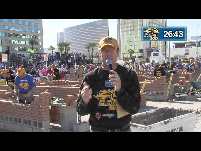STABILA LEVEL GETS DROPPED AT THE 2015 SPEC MIX BRICKLAYER 500® WORLD CHAMPIONSHIP