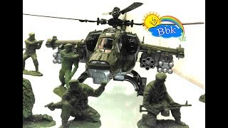Домашние сражения игрушек ↑ Военные солдатики, вертолёты, катера, самолёты, машинки ↑ Обзор игрушек