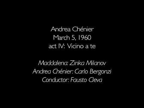 Andrea Chénier: act IV; Vicino a te: Zinka Milanov, Carlo Bergonzi: 3/5/60