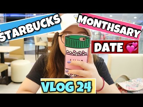 MONTHSARY DATE | STARBUCKS | VLOG