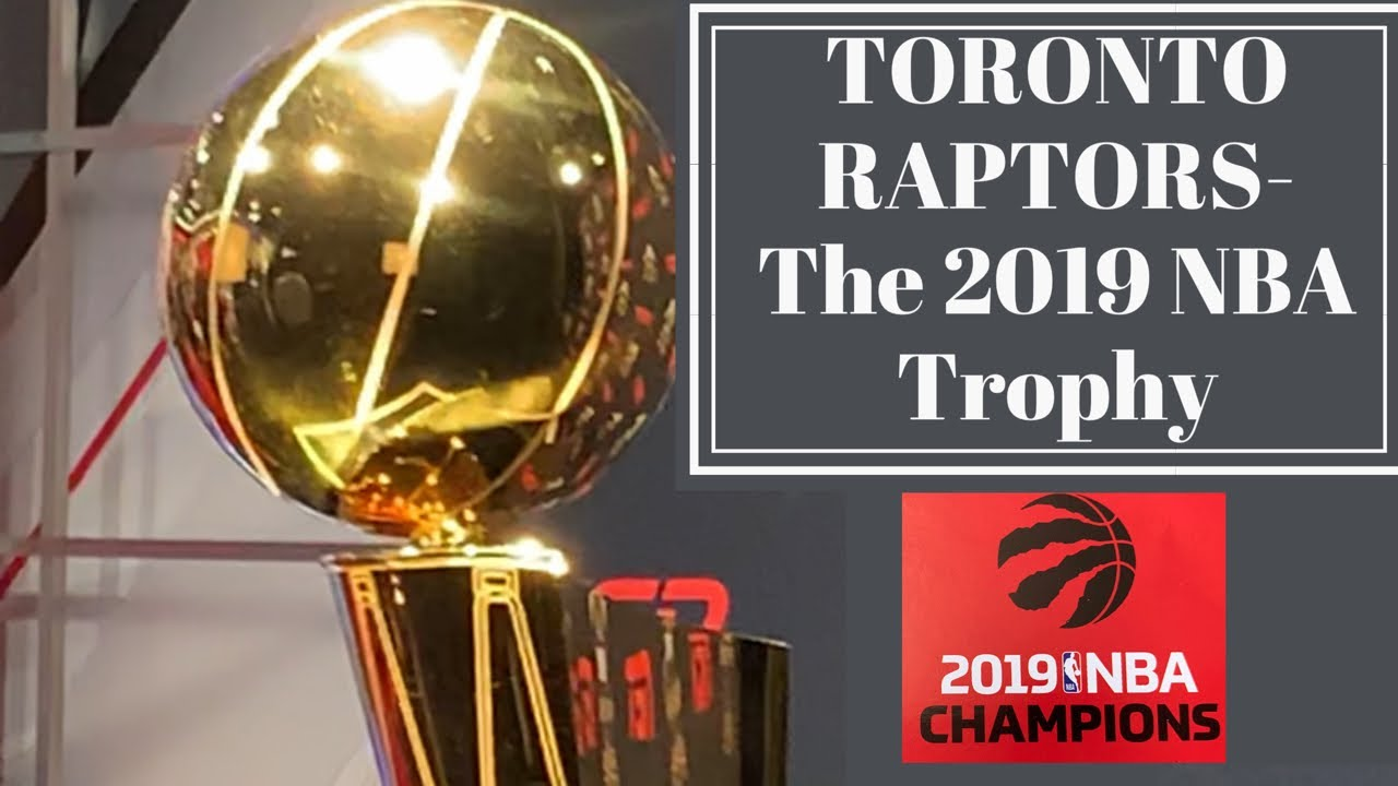 Toronto Raptors-2019 Trophy | NBA Actual Champions Trophy | The Real Trophy | Canadian Basketball