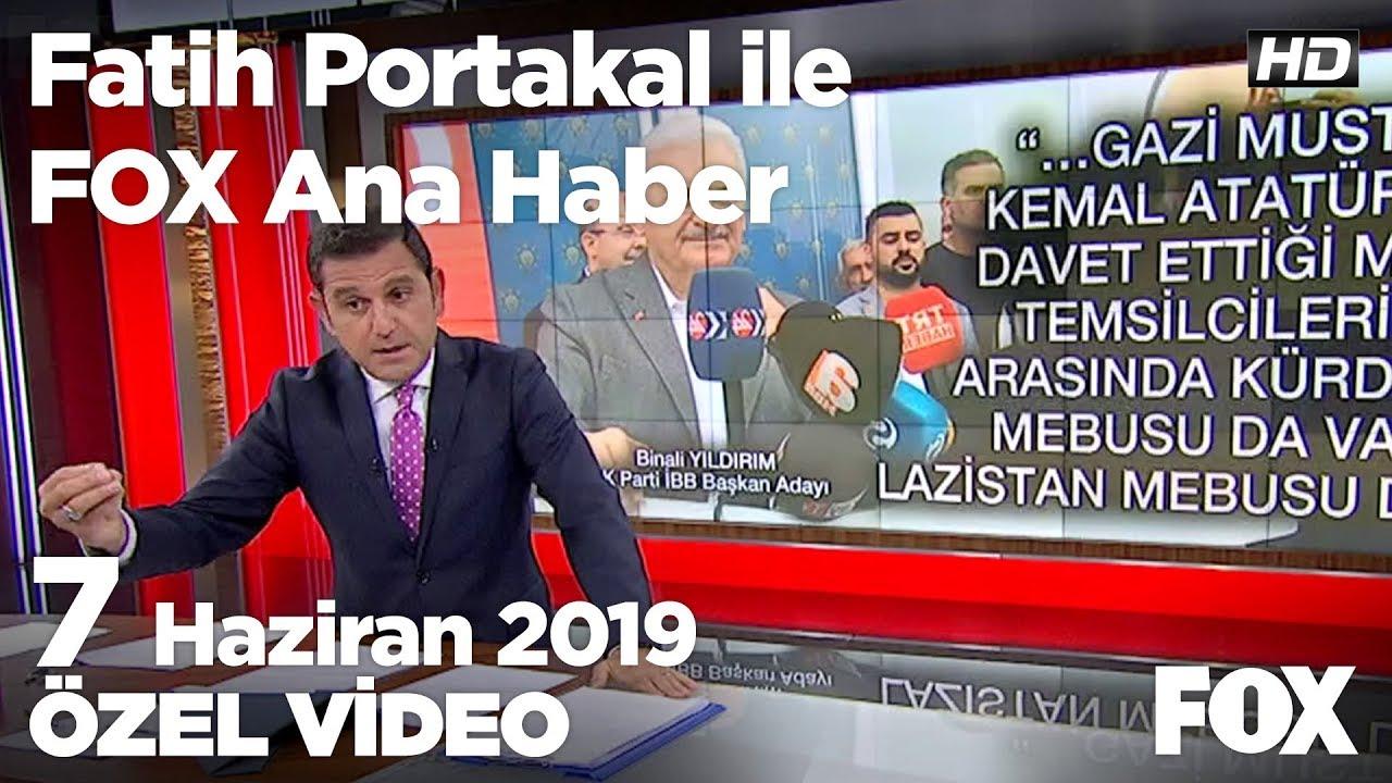 Fox Haber İzle, 07 Haziran 2019.. Yıldırım'ın ''Kürdistan'' ifadesi siyaset