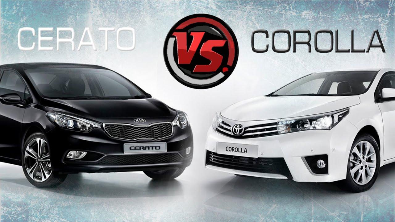 2hpKIA Cerato Forte VS Toyota Corolla YouTube