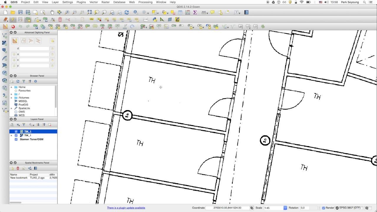 [QGIS tutorial part 2] Draw shapes over floor plan