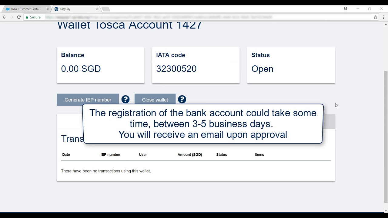 Knowledge: How can I open an IATA EasyPay account?