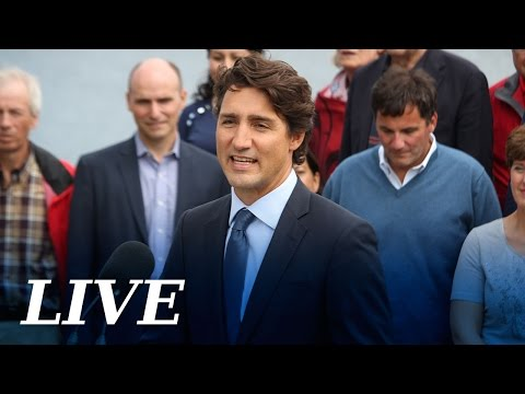 Press conference with Prime Minister Justin Trudeau and cabinet ministers