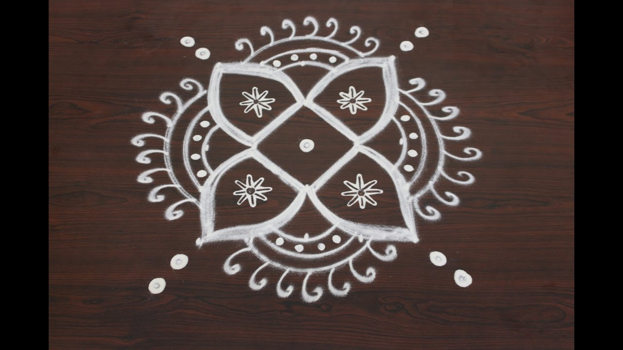 easy rangoli designs for diwali with 5x5 dots simple