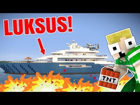 KÆMPE LUKSUS BÅD!! - Dansk Minecraft
