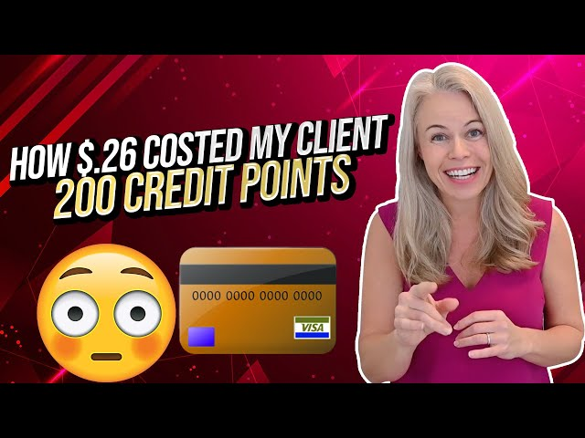 Money Monday: How $.26 Dropped My Client's Credit Score 200 Points 😳💳 (Credit Score Tips 2021)