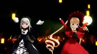 【MMD】Rozen Maiden 水銀灯Mercury Lampeと真紅Reiner Rubinと双子ドール達で「千本桜」60fps