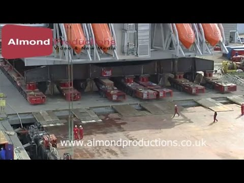 Mammoet - Mega load out of BP Clair Topside